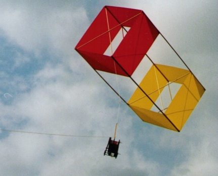 KAP Camera attached to a Box Kite