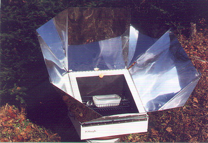 A Solar Oven built using D. S. Halacy Plans