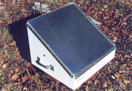 The Solar Oven folds up compactly for storage.