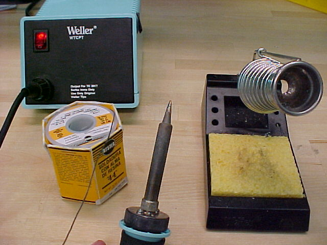 A typical soldering setup