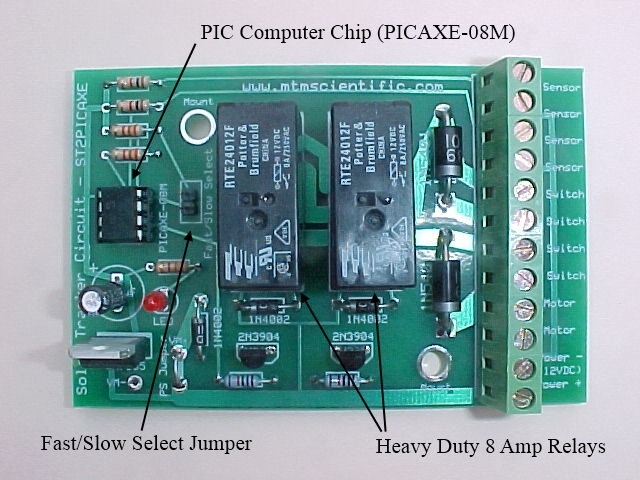 Picaxe Controlled Heavy Duty Solar Tracker Kit