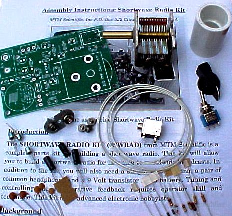 Kit components for the Shortwave Radio Project